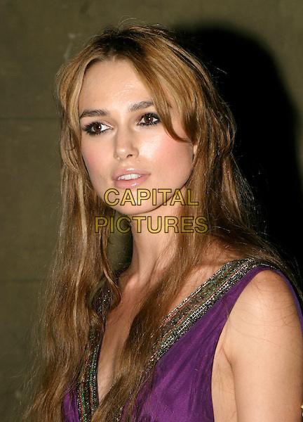 KEIRA KNIGHTLEY.Pride & Prejudice - UK film Premiere Party at Banqueting House, Whitehall..September 5th, 2005.headshot portrait .www.capitalpictures.com.sales@capitalpictures.com.© Capital Pictures.