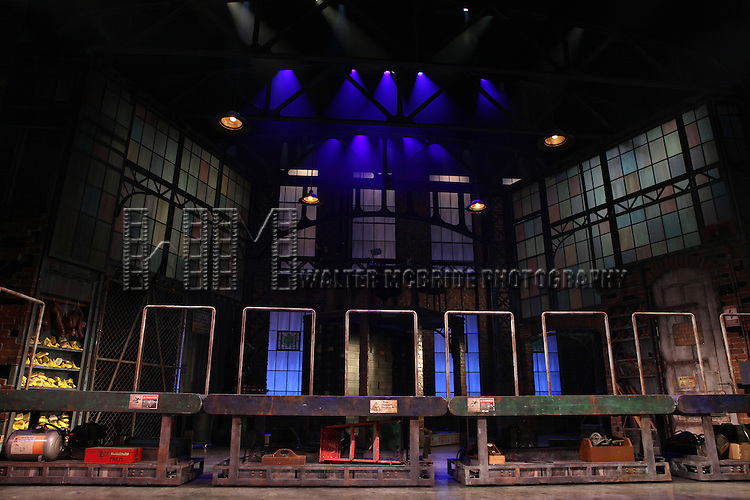The Set at the 'Kinky Boots' Broadway Sneak Peek at Al Hirschfeld Theatre on February 28, 2013