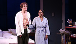 """Michael Shannon and Audra McDonald during the Opening Night Curtain Call for """"Frankie and Johnny in the Clair de Lune"""" at the Broadhurst Theatre on May 29, 2019  in New York City."""