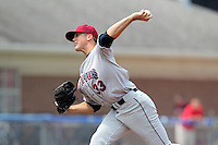 Mahoning Valley Scrappers pitcher James Reichenbach (33) during a game vs. the Batavia Muckdogs at Dwyer Stadium in Batavia, New York August 3, 2010.   Batavia defeated Mahoning Valley 8-1.  Photo By Mike Janes/Four Seam Images