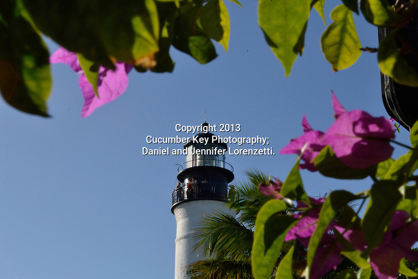 The Key West Lighthouse is located on Whitehead Street directly across from Ernest Hemingway's house.