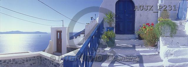 Dr. Xiong, LANDSCAPES, panoramic, photos, Church, Greece(AUJXP231,#L#)