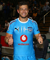 DURBAN, SOUTH AFRICA - APRIL 14: Handre Pollard of the Vodacom Blue Bulls during the Super Rugby match between Cell C Sharks and Vodacom Bulls at Jonsson Kings Park Stadium on April 14, 2018 in Durban, South Africa. Photo: Steve Haag / stevehaagsports.com