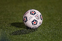 HEMPSTEAD, NY – OCTOBER 12: Official NASL ball used during the New York Cosmos match against the Carolina RailHawks on October 12, 2013 at  Shuart Stadium in Hempstead, New York.