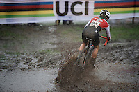 splashing Sina Frei (SUI)<br /> <br /> Women U23 Race<br /> UCI 2016 cyclocross World Championships