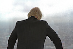LONDON, ENGLAND - FEBRUARY 01 2013: London Mayor Boris Johnson looks out at the view after opening the Viewing Platform at The View from The Shard - Western Europe's tallest building on (Photo by Dave Horn - Extreme Aperture Photography)