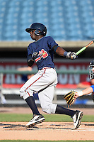 Daz Cameron (24) of Eagles Landing Christian Academy in McDonough, Georgia playing for the Atlanta Braves scout team during the East Coast Pro Showcase on July 31, 2014 at NBT Bank Stadium in Syracuse, New York.  (Mike Janes/Four Seam Images)