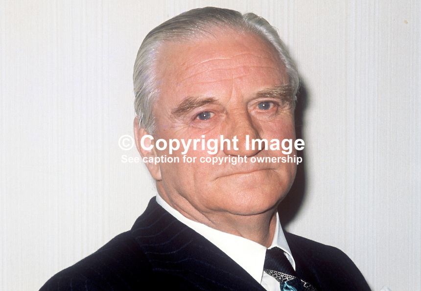 Fred Tughan, solicitor, Belfast, N Ireland, chairman, Unionist Party of N Ireland, April 1974, 197404190630c<br />