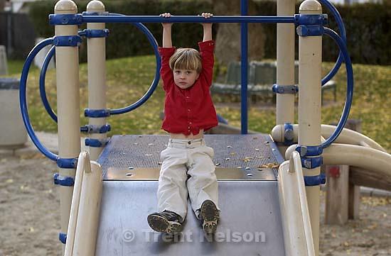 Nathaniel Nelson on slide. 11/04/2001, 5:03:27 PM<br />