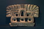 A ceramic decoration from the ruins of the Zapotec city of Atzompa in the Museo Comunitario Santa Maria Atzompa, Oaxaca, Mexico.