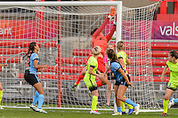Chicago, IL - Sunday Sept. 04, 2016: Sofia Huerta, Haley Kopmeyer during a regular season National Women's Soccer League (NWSL) match between the Chicago Red Stars and Seattle Reign FC at Toyota Park.
