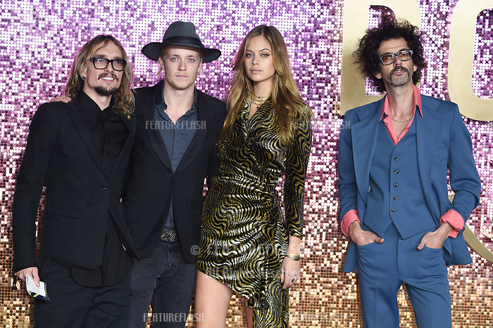 """LONDON, UK. October 23, 2018: The Darkness at the world premiere of """"Bohemian Rhapsody"""" at Wembley Arena, London.<br /> Picture: Steve Vas/Featureflash"""