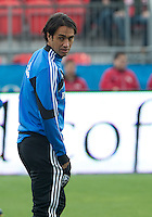 20 October 2012: Montreal Impact defender Alessandro Nesta #14 warms up during an MLS game between the Montreal Impact and Toronto FC at BMO Field in Toronto, Ontario Canada. ..