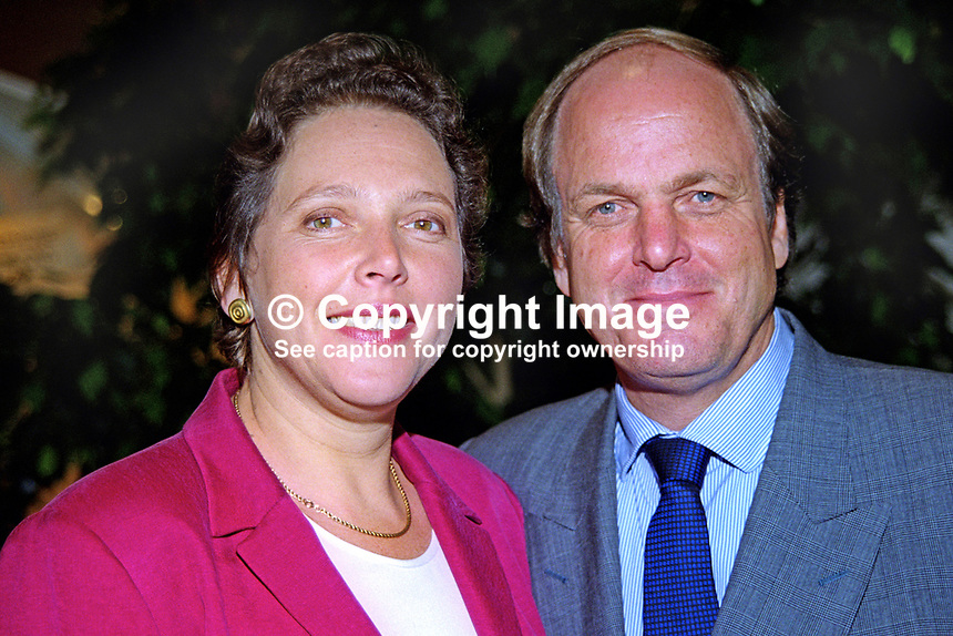 Susan Kramer, Liberal Democrat, candidate, Lord Mayor of London election, with husband, John D Kramer. Ref:199909040. Taken at Liberal Democrats Annual Conference - Harrogate, England during September 1999.<br />
