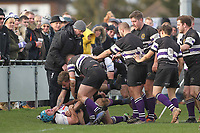Tempers flare Romford & Gidea Park RFC vs Woodford RFC, London 2 North East Division Rugby Union at Crowlands on 9th March 2019