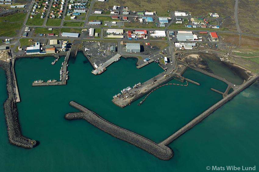 Þorlákshöfn að norðan, Ölfushreppur / Thorlakshofn from north, Olfushreppur. .#.Nýtt nafn:  Sveitarfélagið Ölfus  /  New name of the municipality: Sveitarfelagid Olfus.