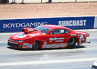 Apr 12, 2015; Las Vegas, NV, USA; NHRA pro stock driver Drew Skillman during the Summitracing.com Nationals at The Strip at Las Vegas Motor Speedway. Mandatory Credit: Mark J. Rebilas-