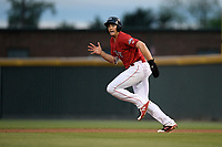 Designated hitter Triston Casas (38) of the Greenville Drive runs toward second base in a game against the Rome Braves on Friday, April 19, 2019, at Fluor Field at the West End in Greenville, South Carolina. Greenville won, 2-0. (Tom Priddy/Four Seam Images)