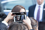 © Joel Goodman - 07973 332324 . 14/10/2016 . Manchester , UK . The Duke and Duchess of Cambridge leave Manchester Town Hall after a visit in Manchester . Photo credit : Joel Goodman