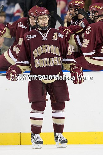 Matt Lombardi (BC - 24) - The Boston College Eagles defeated the University of Wisconsin Badgers 5-0 to win the NCAA Division 1 national championship at the 2010 Frozen Four on Saturday, April 10, 2010, at Ford Field in Detroit, Michigan.