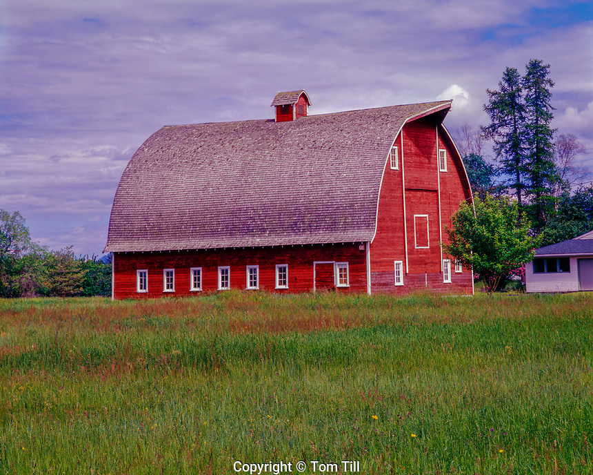 Barn in Glacier Country, Flathead River Valley, Montana, near Kalispell