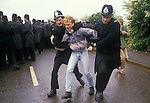ORGREAVE COAL MINERS STRIKE YORKSHIRE UK 1984