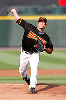 July 22, 2009:  Starting Pitcher Jeff Manship (47) of the Rochester Red Wings delivers a pitch during a game at Frontier Field in Rochester, NY.  The Red Wings are the Triple-A International League affiliate of the Minnesota Twins.  Photo By Mike Janes/Four Seam Images