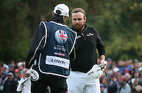 Shane Lowry (IRL) finishes T2 during the Final Round of the British Masters 2015 supported by SkySports played on the Marquess Course at Woburn Golf Club, Little Brickhill, Milton Keynes, England.  11/10/2015. Picture: Golffile | David Lloyd<br /> <br /> All photos usage must carry mandatory copyright credit (© Golffile | David Lloyd)