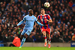 Eliaquim Mangala of Manchester City and Robert Lewandowski of Munich - Manchester City vs. Bayern Munich - UEFA Champion's League - Etihad Stadium - Manchester - 25/11/2014 Pic Philip Oldham/Sportimage