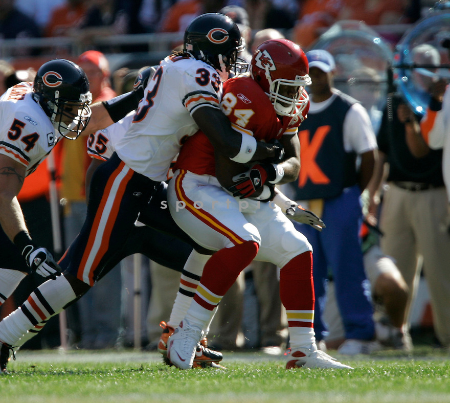 KRIS WILSON, of the Kansas CIty Chiefs in action during the Bears game against the Chicago Bears on September 16, 2007 in Chicago, Illinois...Bears win 20-10..SportPics