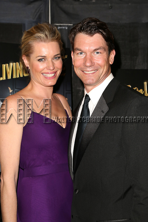 Rebecca Romijn and Jerry O'Connell attends the Broadway Opening Night Performance After Party for 'Living on Love' at Sardi's on April 20, 2015 in New York City.