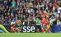 Wales's Lee Williams looks dejected at the final whistle<br /> <br /> Wales Vs England - men's classification 5th - 6th place match<br /> <br /> Photographer Chris Vaughan/CameraSport<br /> <br /> 20th Commonwealth Games - Day 4 - Sunday 27th July 2014 - Rugby Sevens - Ibrox Stadium - Glasgow - UK<br /> <br /> © CameraSport - 43 Linden Ave. Countesthorpe. Leicester. England. LE8 5PG - Tel: +44 (0) 116 277 4147 - admin@camerasport.com - www.camerasport.com
