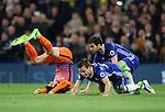 Chelsea's Cesc Fabregas fouls Manchester City's David Silva during the Premier League match at the Stamford Bridge Stadium, London. Picture date: April 5th, 2017. Pic credit should read: David Klein/Sportimage