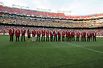 30 May 2012: The National Soccer Hall of Fame members in attendance were honored on the field before the game. The Brazil Men's National Team defeated the United States Men's National Team 4-1 at Fedex Field in Landover, Maryland in an international friendly soccer match.