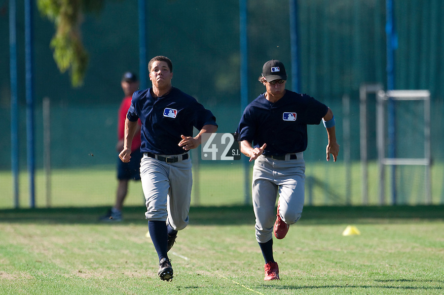 Baseball - MLB Academy - Tirrenia (Italy) - 19/08/2009 - Shawn Larry (Germany), Matej Mensik (Czech Republic)