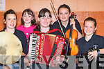 Shauna Murphy Caherciveen, Leanne O'Neill Foilmore, Marian Cournane Caherciveen, Jennifer Murphy Caherciveen and Donna McCarthy Foilmore playing tunes at the Killarney Fleadh Cheoil in Killarney Community College on Saturday   Copyright Kerry's Eye 2008