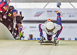 9 January 2016: Matthew Antoine, competing for the United States of America, pushes off for his first run start of the BMW IBSF World Cup Skeleton race at the Olympic Sports Track in Lake Placid, New York, USA. Antoine ended the day with a combined 2-run time of 1:49.91 and a 5th place overall finish. Mandatory Credit: Ed Wolfstein Photo *** RAW (NEF) Image File Available ***