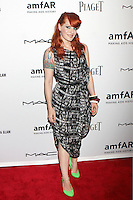 Ana Matronic wore a black and white printed chiffon dress while from Scissor Sisters attending amfAR's third annual Inspiration Gala at the New York Public Library in New York, 07.06.2012..Credit: Rolf Mueller/face to face /MediaPunch Inc. ***FOR USA ONLY***