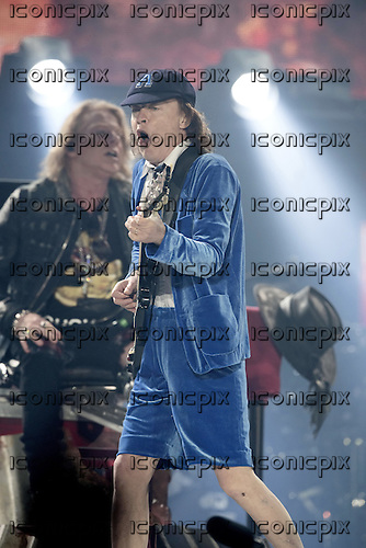 AC/DC - gutiarist Angus Young & AXL ROSE - performing live at Stade Velodrome in Marseilles France - 13 May 2016. Photo credit: Marc Villalonga/Dalle/IconicPix ** UK ONLY **