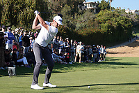 Max Homa (USA)  on the 18th tee during the final round of the The Genesis Invitational, Riviera Country Club, Pacific Palisades, Los Angeles, USA. 15/02/2020<br /> Picture: Golffile | Phil Inglis<br /> <br /> <br /> All photo usage must carry mandatory copyright credit (© Golffile | Phil Inglis)