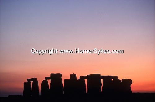 Stonehenge sunset Wiltshire Uk