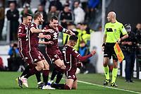 Sasa Lukic of Torino celebrates with team mates after scoring the goal of 0-1 <br /> Torino 3-5-2019 Allianz Stadium Football Serie A 2018/2019 Juventus - Torino <br /> Photo Matteo Gribaudi / Image Sport / Insidefoto