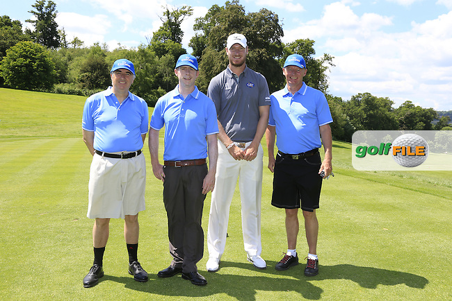 Chris Wood (ENG) team during Wednesday's Pro-Am of the 2014 Irish Open held at Fota Island Resort, Cork, Ireland. 18th June 2014.<br /> Picture: Eoin Clarke www.golffile.ie