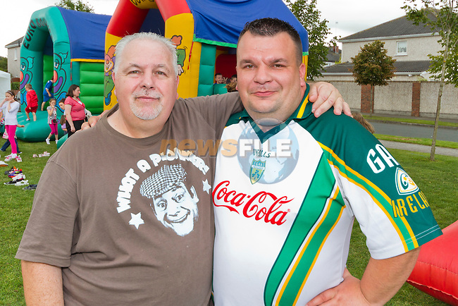 Wilie and Eoghan at the fun day, taking care of the bouncy castles..Picture: Shane Maguire / www.newsfile.ie.