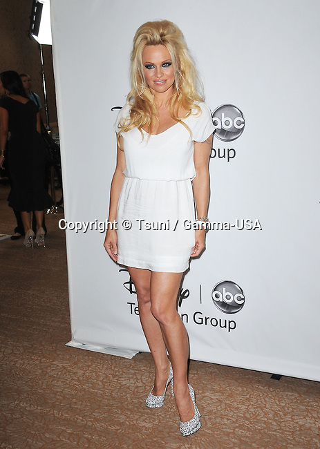 Pamela Anderson  at the tca ABC 2012 at the Beverly Hilton In Los Angeles.