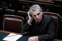 Il Ministro della Difesa Giampaolo Di Paola.Roma 25/01/2012 Voto alla Camera dei Deputati per la mozione unitaria sulla politica europea dell'Italia.Foto Insidefoto Serena Cremaschi