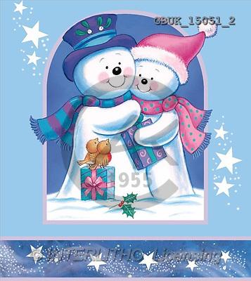 Stephen, CHRISTMAS SANTA, SNOWMAN, paintings, snowmen, gifts, stars(GBUK15051/2,#X#) Weihnachtsmänner, Schneemänner, Weihnachen, Papá Noel, muñecos de nieve, Navidad, illustrations, pinturas
