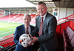 Sheffield Unioted's new manager Chris Wilder with assistant Alan Knill at Bramall Lane, Sheffield, United Kingdom, 13th May 2016. Photo by Glenn Ashley.
