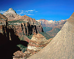 Zion Canyon from Tunnel Overlook, Zion National Park, Utah, USA.