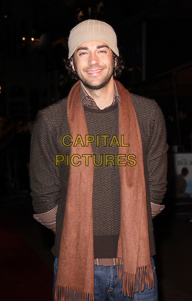 "ZACHARY LEVI.UK Premiere of ""The Bucket List"" held at the Vue cinema, Leicester Square, London, England..January 20th 2008.half length beanie hat beige brown scarf jumper stubble facial hair .CAP/ROS.©Steve Ross/Capital Pictures"